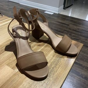 Aldo Heeled Sandals - Cognac size 8.5